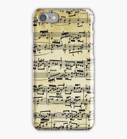 Sheet music Bach Fugue  iPhone Case/Skin
