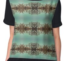 Autumn oak trees Chiffon Top