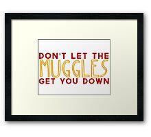 Don't Let The Muggles Get You Down Framed Print