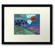 Zen Countryside Framed Print