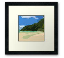 St. John Beach Framed Print