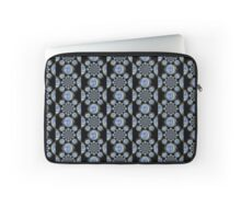 Blue and Black Retro Pattern Laptop Sleeve