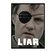 The Governor - THE WALKING DEAD (Liar) Photographic Print