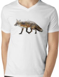 Red Fox Mens V-Neck T-Shirt