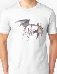 If Pigs Could Fly - on black Unisex T-Shirt