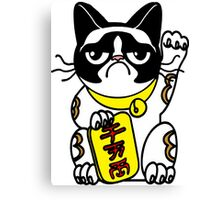 Grumpy Cat Maneki Neko  Canvas Print