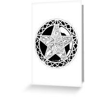 Five Elements Black & White Version Greeting Card