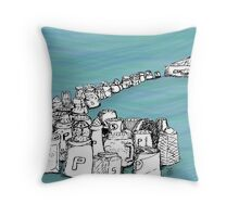 March of the Widowed Shakers Throw Pillow