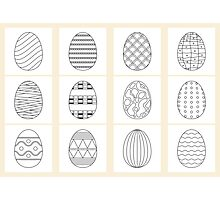 black white easter eggs  Photographic Print
