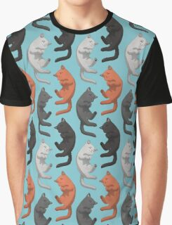 Sleeping Cats Pattern Graphic T-Shirt