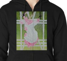 Rose Quartz Deer Zipped Hoodie