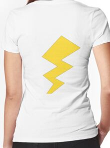 The Yellow Lightening Bolt Women's Fitted V-Neck T-Shirt