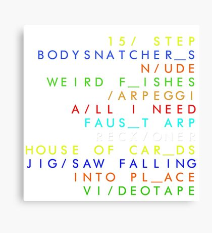 IN/ RAINBOWS  Canvas Print
