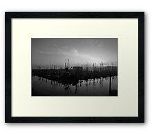 Sleeping Ships Framed Print