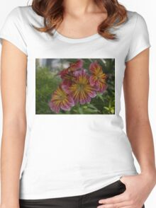 Exotic Spring Flowers  Women's Fitted Scoop T-Shirt