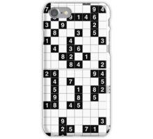 black white sudoku iPhone Case/Skin