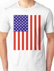 Red,White and Blue USA Flag Unisex T-Shirt