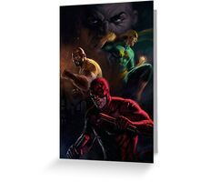 Daredevil and Crew Greeting Card