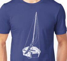 Sailboat (White) Unisex T-Shirt