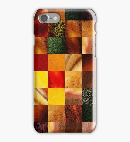 Geometric Design Squares Pattern Abstract II iPhone Case/Skin