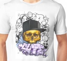 Skull and Crumble graffiti Unisex T-Shirt