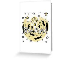 Star World Greeting Card