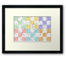 pastel sudoku Framed Print