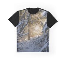 Sunshine Through Snowy Trees Graphic T-Shirt