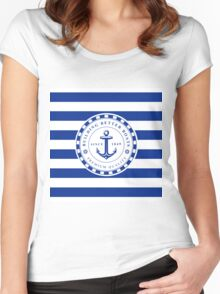 Nautical Design 07 Women's Fitted Scoop T-Shirt