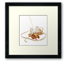 Flying Unicorns and Toys Framed Print
