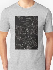 1920's Constellation Map Unisex T-Shirt