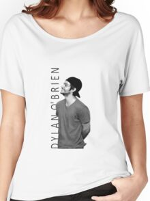Dylan O'Brien - Black and White Women's Relaxed Fit T-Shirt