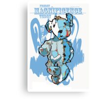 freddy the magnificence teddy in blue Canvas Print