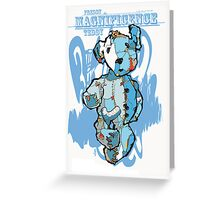 freddy the magnificence teddy in blue Greeting Card