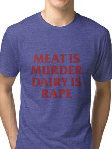 MEAT IS MURDER Tri-blend T-Shirt
