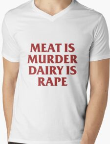 MEAT IS MURDER Mens V-Neck T-Shirt