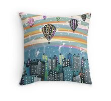 Balloon Evening Throw Pillow