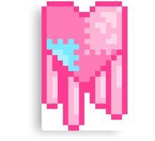 Dripping Pixel Heart  Canvas Print