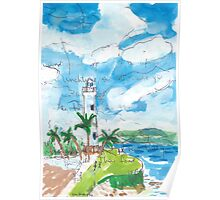Galle Fort Lighthouse Poster