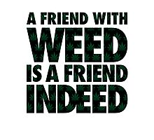 A Friend with Weed is a Friend Indeed Photographic Print