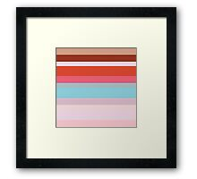 City Stripes - Retro Rainbow Multi Framed Print
