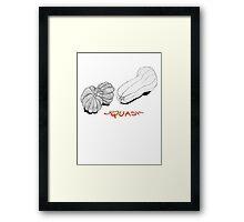 SQUASH ~  Framed Print