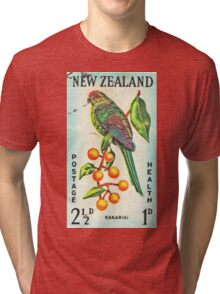 New Zealand Bird Print Tri-blend T-Shirt