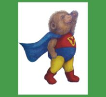 Super Hero Yoga Bear Baby Tee