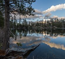 Dusk at Lower Angora Lake by Richard Thelen