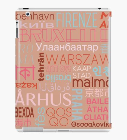 Text and the City in Multi Retro/Buff iPad Case/Skin