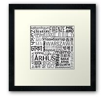 Text and the City in Black/White Framed Print