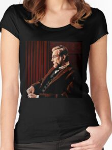Abraham Lincoln by Daniel Day-Lewis Women's Fitted Scoop T-Shirt