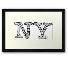NYC DOODLE Framed Print