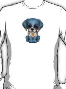 Cute Patriotic Argentinian Flag Puppy Dog T-Shirt